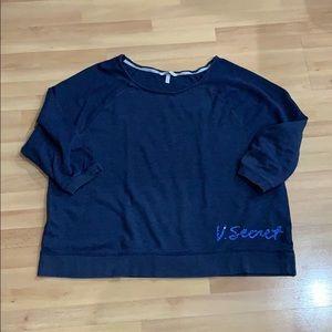 Victoria's Secret Navy Blue 3/4 sleeve Sweatshirt